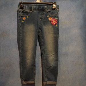 Embroidered Jordache Jeans with Stretchy Waist